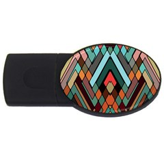 Abstract Mosaic Color Box Usb Flash Drive Oval (4 Gb)
