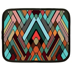 Abstract Mosaic Color Box Netbook Case (large) by AnjaniArt