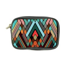 Abstract Mosaic Color Box Coin Purse by AnjaniArt