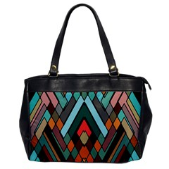 Abstract Mosaic Color Box Office Handbags by AnjaniArt