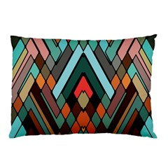 Abstract Mosaic Color Box Pillow Case (two Sides) by AnjaniArt