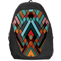 Abstract Mosaic Color Box Backpack Bag by AnjaniArt