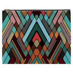 Abstract Mosaic Color Box Cosmetic Bag (xxxl)