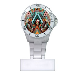 Abstract Mosaic Color Box Plastic Nurses Watch