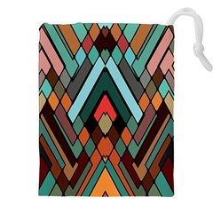 Abstract Mosaic Color Box Drawstring Pouches (xxl) by AnjaniArt