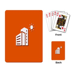 Building Orange Sun Copy Playing Card