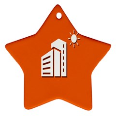 Building Orange Sun Copy Star Ornament (two Sides)  by AnjaniArt