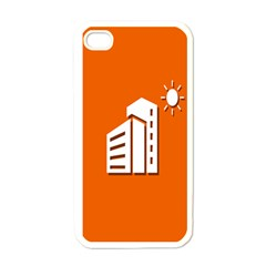 Building Orange Sun Copy Apple Iphone 4 Case (white)