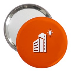 Building Orange Sun Copy 3  Handbag Mirrors