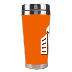 Building Orange Sun Copy Stainless Steel Travel Tumblers by AnjaniArt