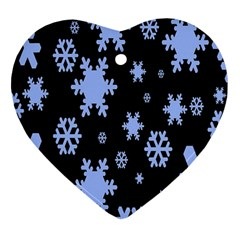 Blue Black Resolution Version Heart Ornament (2 Sides) by AnjaniArt