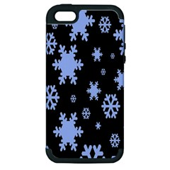 Blue Black Resolution Version Apple Iphone 5 Hardshell Case (pc+silicone) by AnjaniArt