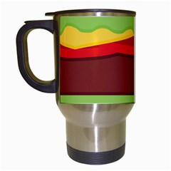 Cake Cute Burger Copy Travel Mugs (white)