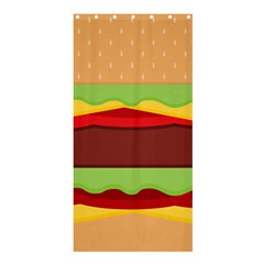 Cake Cute Burger Copy Shower Curtain 36  X 72  (stall)  by AnjaniArt