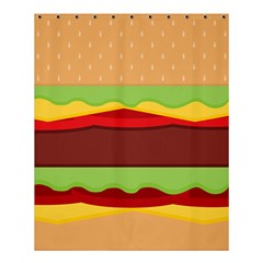 Cake Cute Burger Copy Shower Curtain 60  X 72  (medium)  by AnjaniArt