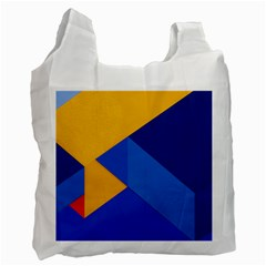 Box Yellow Blue Red Recycle Bag (two Side)