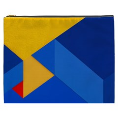 Box Yellow Blue Red Cosmetic Bag (xxxl)