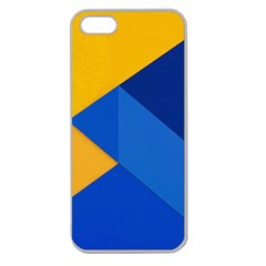 Box Yellow Blue Red Apple Seamless Iphone 5 Case (clear)