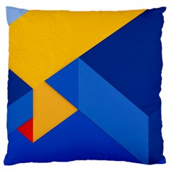 Box Yellow Blue Red Large Flano Cushion Case (one Side) by AnjaniArt