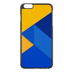 Box Yellow Blue Red Apple Iphone 6 Plus/6s Plus Black Enamel Case by AnjaniArt
