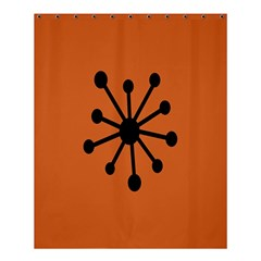 Centralized Garbage Flow Shower Curtain 60  X 72  (medium)  by AnjaniArt