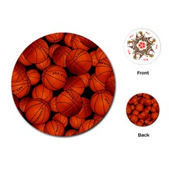 Basketball Sport Ball Champion All Star Playing Cards (round)