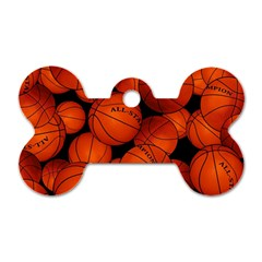 Basketball Sport Ball Champion All Star Dog Tag Bone (two Sides) by AnjaniArt