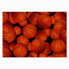 Basketball Sport Ball Champion All Star Large Glasses Cloth (2 Side) by AnjaniArt