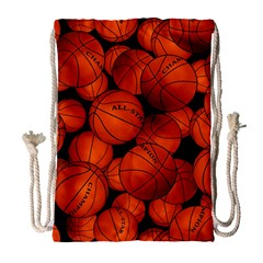 Basketball Sport Ball Champion All Star Drawstring Bag (large) by AnjaniArt