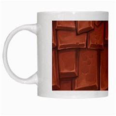 Chocolate White Mugs by AnjaniArt