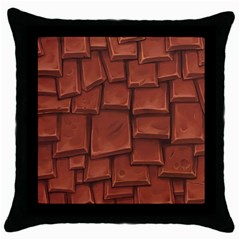 Chocolate Throw Pillow Case (black)