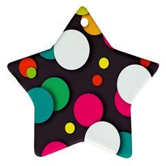 Color Balls Star Ornament (two Sides)
