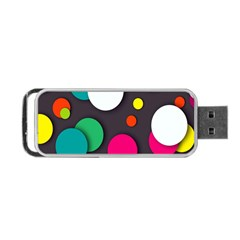 Color Balls Portable Usb Flash (two Sides) by AnjaniArt