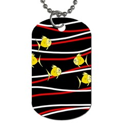 Five Yellow Fish Dog Tag (two Sides) by Valentinaart