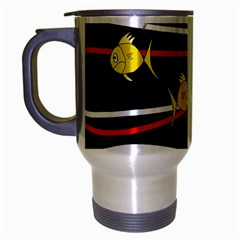 Five Yellow Fish Travel Mug (silver Gray)