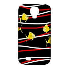 Five Yellow Fish Samsung Galaxy S4 Classic Hardshell Case (pc+silicone) by Valentinaart