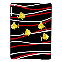 Five Yellow Fish Ipad Air Hardshell Cases by Valentinaart