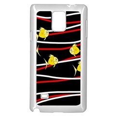 Five Yellow Fish Samsung Galaxy Note 4 Case (white)