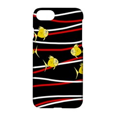 Five Yellow Fish Apple Iphone 7 Hardshell Case by Valentinaart