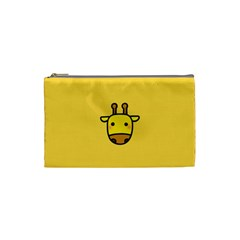 Cute Face Giraffe Cosmetic Bag (small)
