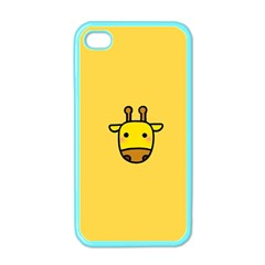 Cute Face Giraffe Apple Iphone 4 Case (color) by AnjaniArt