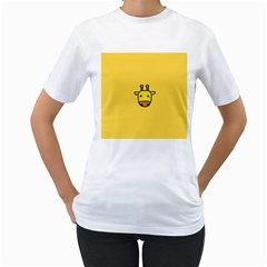 Cute Face Giraffe Women s T Shirt (white)  by AnjaniArt
