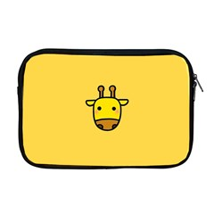 Cute Face Giraffe Apple Macbook Pro 17  Zipper Case
