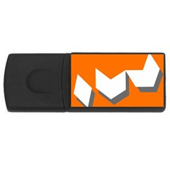 Cute Orange Chevron Usb Flash Drive Rectangular (4 Gb)
