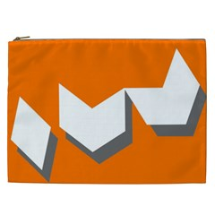 Cute Orange Chevron Cosmetic Bag (xxl)