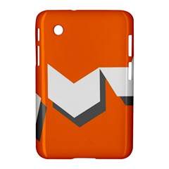 Cute Orange Chevron Samsung Galaxy Tab 2 (7 ) P3100 Hardshell Case  by AnjaniArt