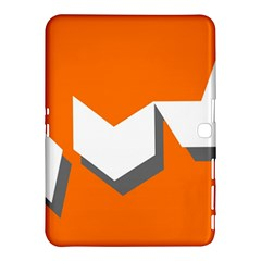 Cute Orange Chevron Samsung Galaxy Tab 4 (10 1 ) Hardshell Case  by AnjaniArt