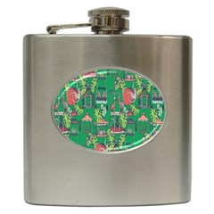 Animal Cage Hip Flask (6 Oz) by AnjaniArt