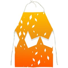 Cute Orange Copy Full Print Aprons by AnjaniArt