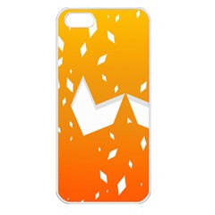 Cute Orange Copy Apple Iphone 5 Seamless Case (white) by AnjaniArt